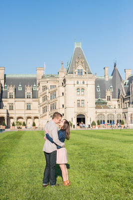 Engagement photo at Biltmore in Asheville