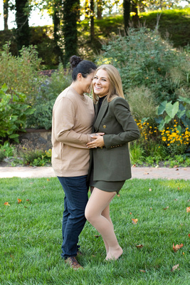 lgbtq engagement photos after marriage proposal at Biltmore Estate in Asheville NC