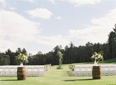 Lake Toxaway Country Club Wedding on the green
