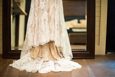 Bridal gown detail at Hawkesdene in Asheville