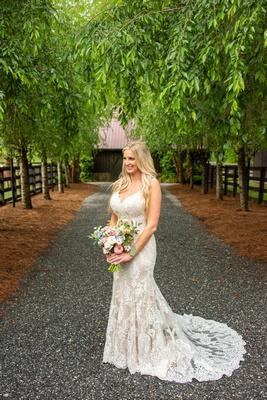 Bridal portrait at Hawkesdene in Asheville
