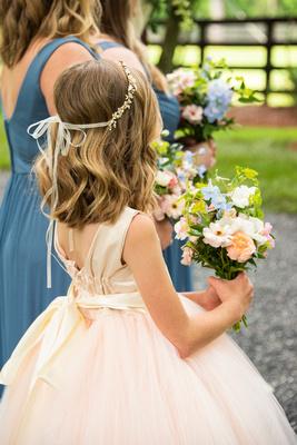 Flower girl details at Hawkesdene
