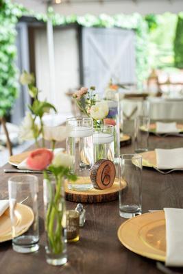 Hawkesdene wedding table details