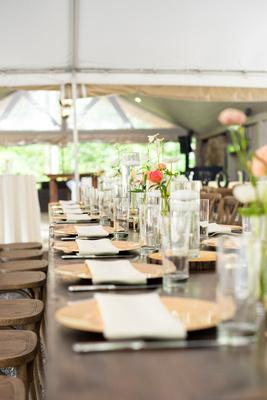 Head table setting at Hawkesdene near Asheville