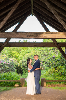 Married couple portrait at Craggy Gardens in Asheville