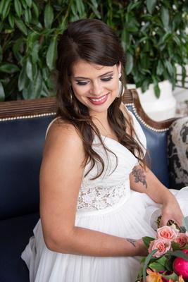 Bridal portrait at Haiku I Do in Asheville NC