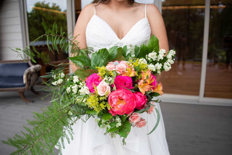 Stargazers Designs bridal bouquet at Haiku I Do in Asheville