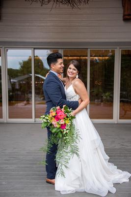 Wedding couple at Haiku I Do