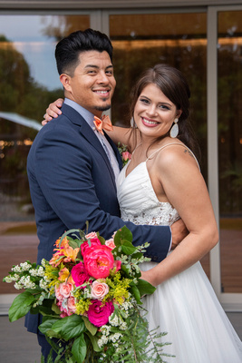 Wedding photo of bride and groom at Haiku I Do in Asheville