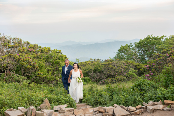 Married couple at Craggy Gardens wedding in Asheville