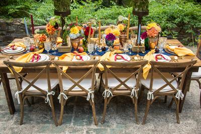 Asheville wedding venue table scape at The Ellington House