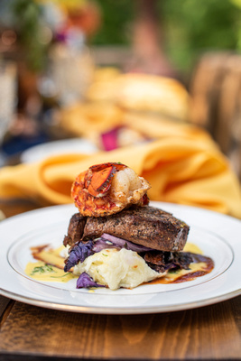 Surf and Turf by Verbena Cakes and Catering at The Ellington House in Asheville
