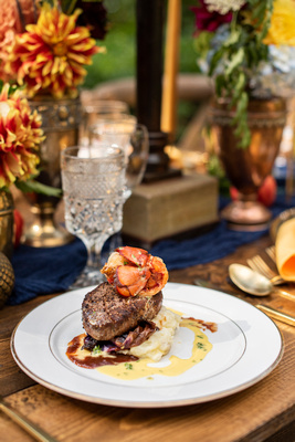 The Ellington House in Asheville Steak and Lobster by Verbena Cakes and Catering