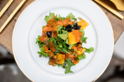 The Ellington House salad menu in Asheville