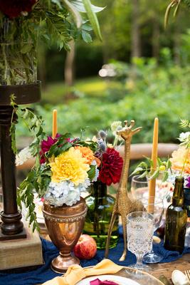 Wedding table decor at The Ellington House