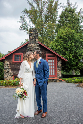 Cloudy day wedding portrait at Homewood in Asheville