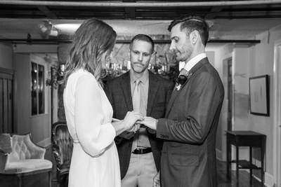 Wedding ceremony at Homewood in Asheville