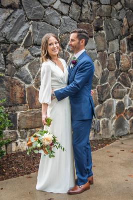 Wedding portrait in Asheville at Homewood castle