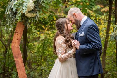Asheville Botanical Gardens wedding ceremony