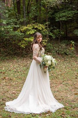 Asheville Botanical Gardens wedding bridal portrait