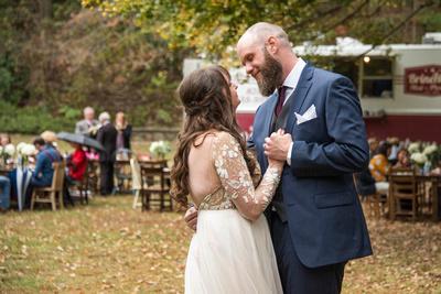 First dance at Asheville Botanical Gardens wedding