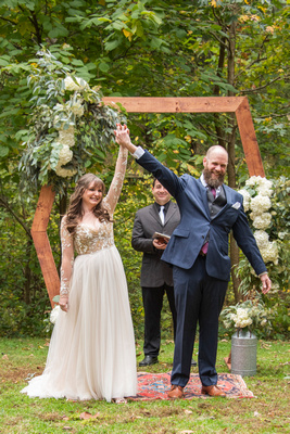 Married couple at Asheville Botanical Gardens