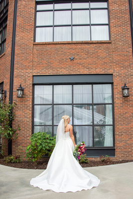 Bridal portrait at The Foundry in Asheville