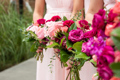 Fall wedding flowers at The Foundry in Asheville