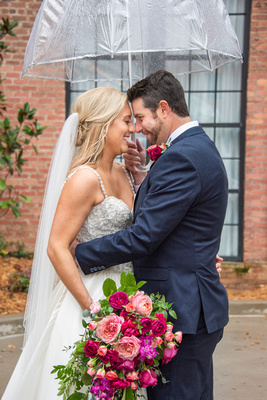 Fall wedding photo in Asheville at The Foundry