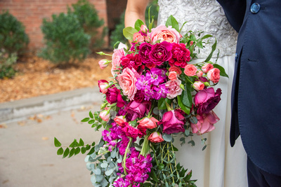 Wedding bouquet at The Foundry in Asheville