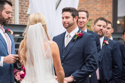 Wedding ceremony in Asheville at The Foundry