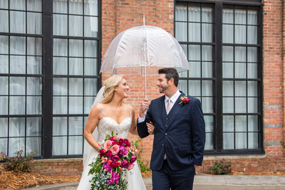 Wedding photos at The Foundry in Asheville