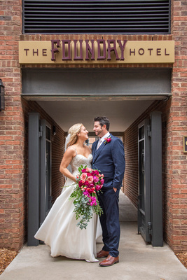 Wedding portrait at The Foundry in Asheville