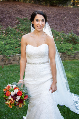 Bridal portrait at The Lodge at Flat Rock near Hendersonville
