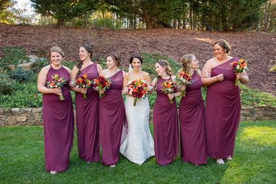Fall wedding at The Lodge at Flat Rock near Asheville