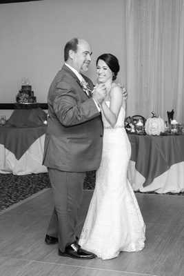 Father daughter dance in ballroom at The Lodge at Flat Rock
