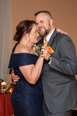 Mother son dance in ballroom at The Lodge at Flat Rock