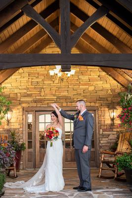 Wedding photo at The Lodge at Flat Rock near Asheville
