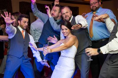 Wedding reception dancing at The Lodge at Flat Rock