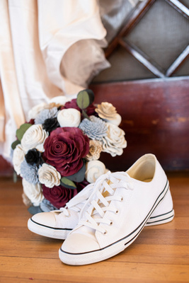 Converse wedding shoes at The Asheville Masonic Temple
