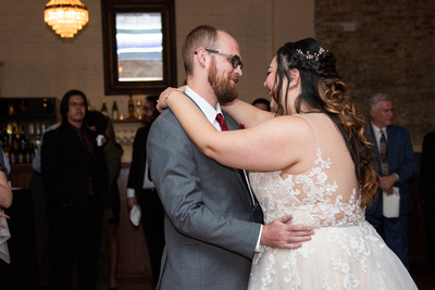 First dance at Celine and Company in Asheville