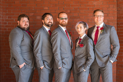 Groom and groomsmens at The Asheville Masonic Temple