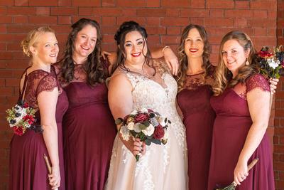 The Asheville Masonic Temple bridesmaid photo