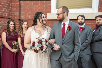 The Asheville Masonic Temple wedding party photo