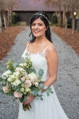 Bridal portrait at Hawkesdene in Andrews NC