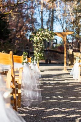 Ceremony setup at Hawkesdene wedding