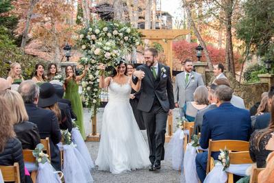 Wedding celebration at Hawkesdene in fall