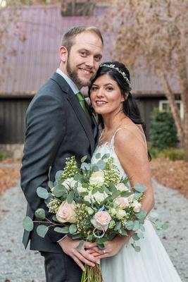 Wedding photo at Hawkesdene in Andrews NC