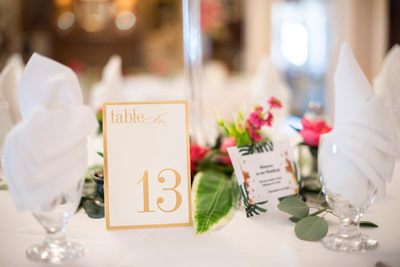 Table decor at The 1927 Lake Lure Inn and Spa wedding near Asheville
