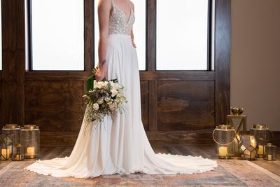 Bridal details at The Shamrock Room in Brevard